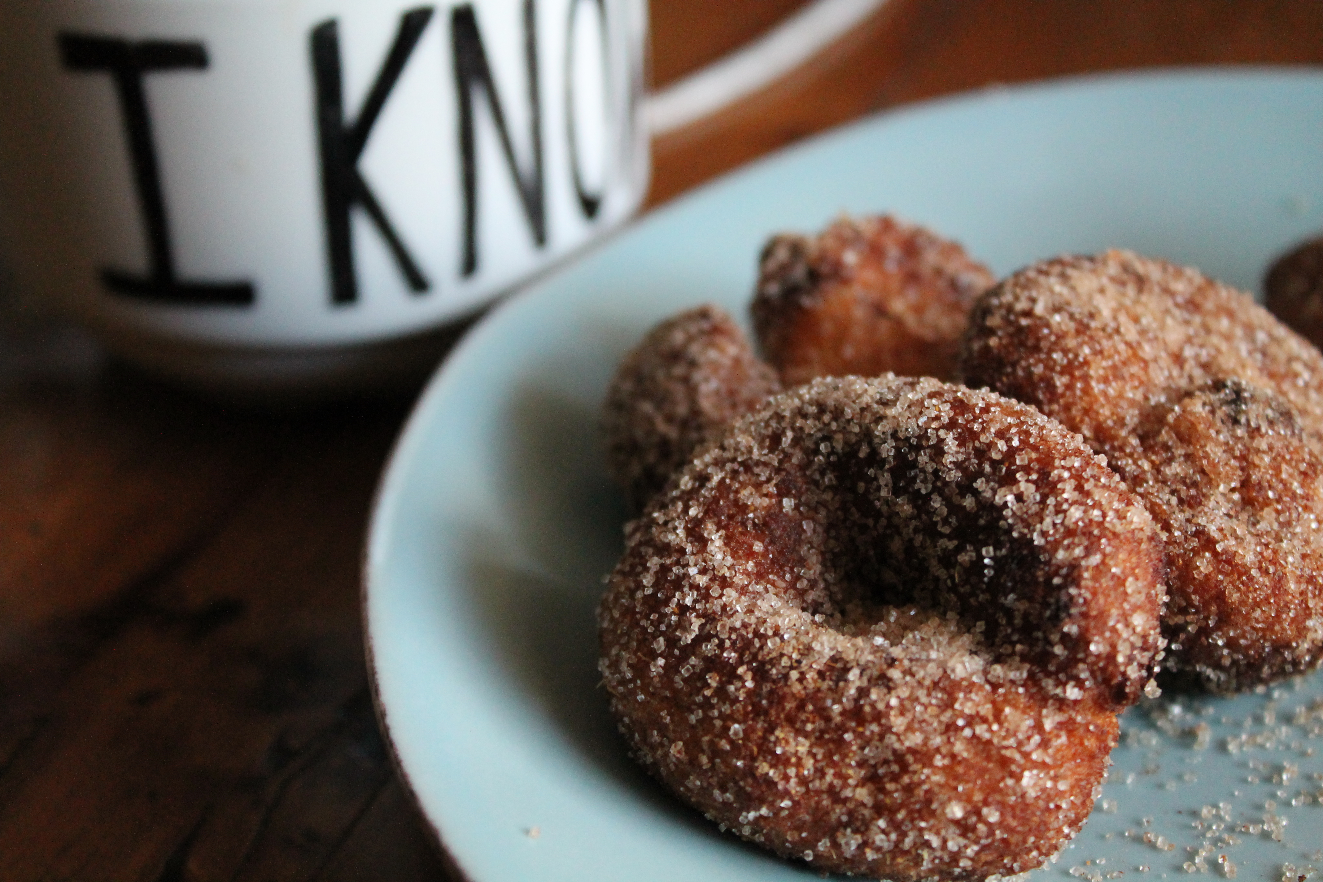 how to make cinnamon donuts without eggs