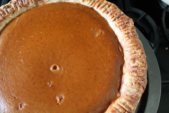 Finished Bourbon Chestnut Pumpkin Pie