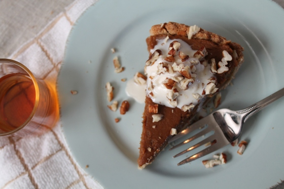 Bourbon Chestnut Pumpkin Pie